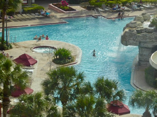 Caribe Royale All Suite Hotel & Convention Center: View looking down on the pool from my room