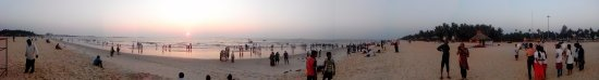 Panoramic view of Malpe Beach