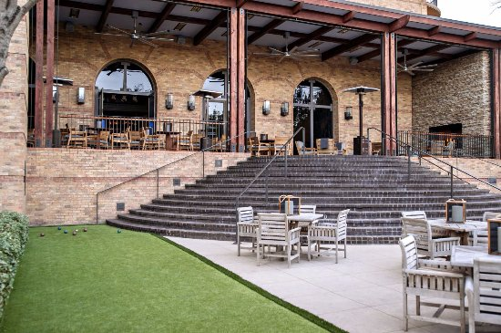 Irving, TX: Outdoor cover patio + bocce ball court