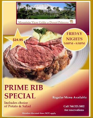 Cathedral City, Kalifornia: Friday Prime Rib Special