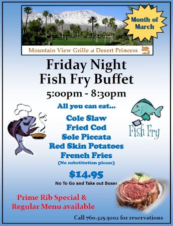 Cathedral City, CA: March Fish Fry