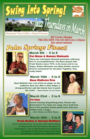 Cathedral City, CA: Jazz Thursdays in March