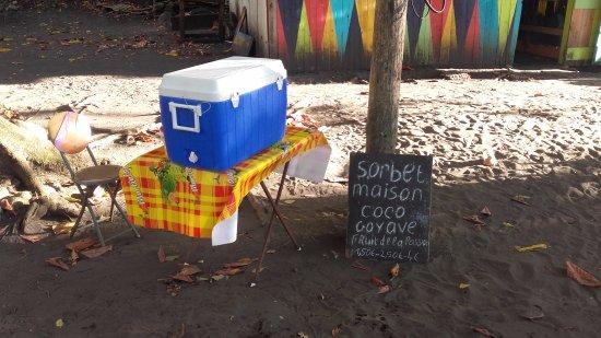 Les Anses d'Arlet, Martinique: Sorbet coco