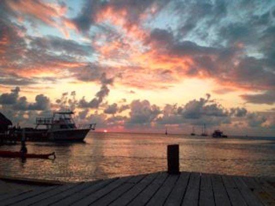 Iguana Reef Inn: Sunset from dock at hotel