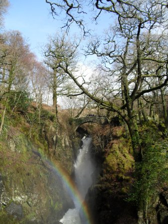 Penrith, UK: Main waterfall at Aira Force