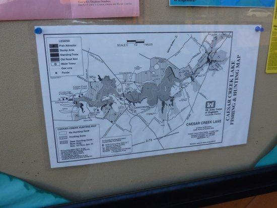 Caesar Creek Lake - Picture of Caesar Creek Lake ... on tar hollow hunting map, caesar's creek map, buckeye lake hunting map, caesar creek lake map, caesar creek state park trail map, caesar creek campground map, raccoon creek state park map, kansas public deer hunting area map, gatton creek campground map,