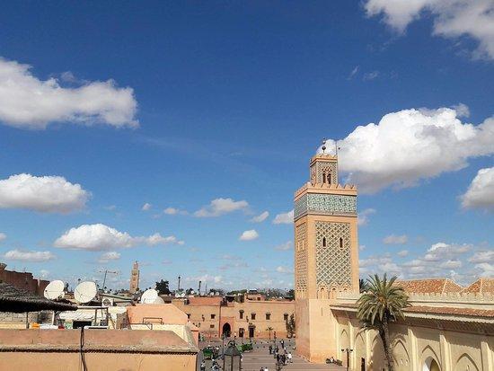 Kasbah Cafe: Vue sur les minarets