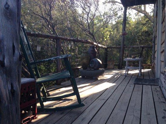 Marble Falls, TX: Cedar porch