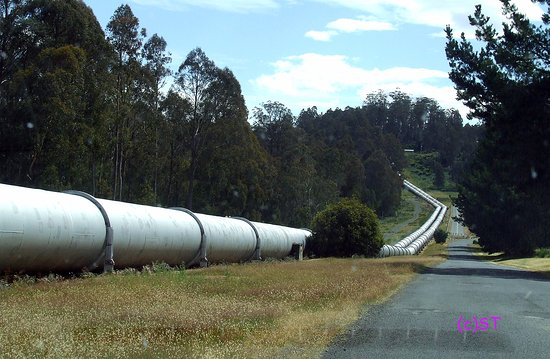 Tarraleah, Australia: low pressure pipes