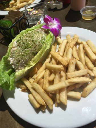 Heber City, UT: Chicken Salad Lettuce Wrap with made to order fries