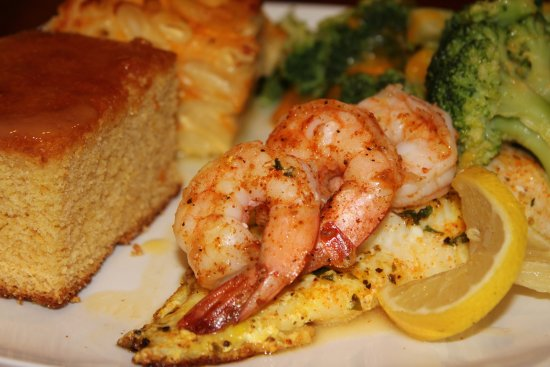 Petersburg, VA: We offer daily specials, too! Pictured here, catfish with shrimp.