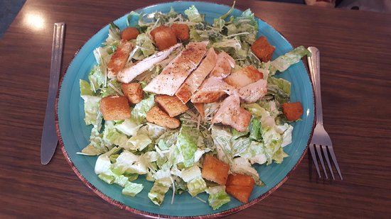Petersburg, VA: daily specials are always changing, like this chicken Caesar salad