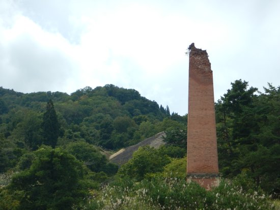 Karuizawa Ginzan Ruins: 上部は崩れかかっています