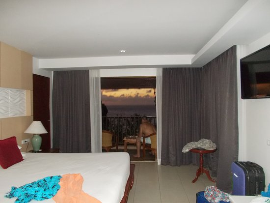 Chanalai Garden Resort: our spacious room looking out to the balcony, with sea views.