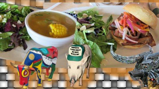 Round Rock, TX: quinoa soup, peruvian pork sammy