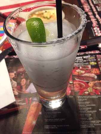 Machida, Japan: Served like this. Yet to sip-it's not even close to a full glass. Plus the salt is covering only