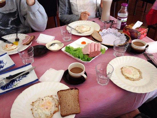 Wudalianchi, China: A 'traditional' Russian breakfast! yeah...