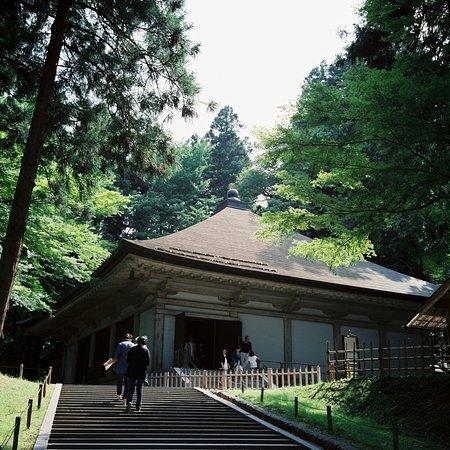 Chuson-ji Temple: Walking into the golden hall