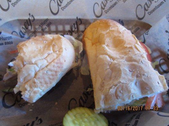 Port Huron, MI: Grilled chicken sub with mozzarella cheese