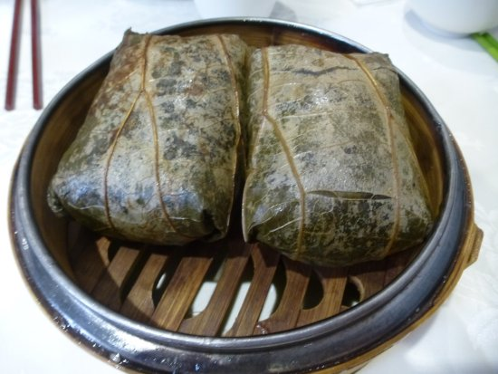 Burnaby, แคนาดา: Sticky Rice Wrap with Chinese Sausage