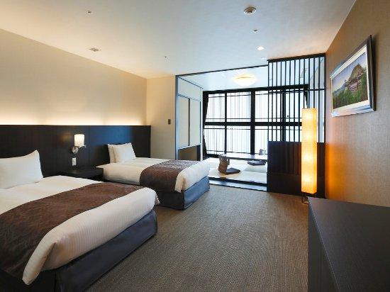 Kyoto Tower Hotel: 禁煙和洋室50㎡Aタイプ 一例(お部屋のタイプはお選びいただけません。予めご了承ください。)