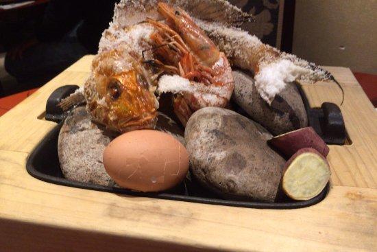 Hamakatsu Shippoku: イトヨリの石焼