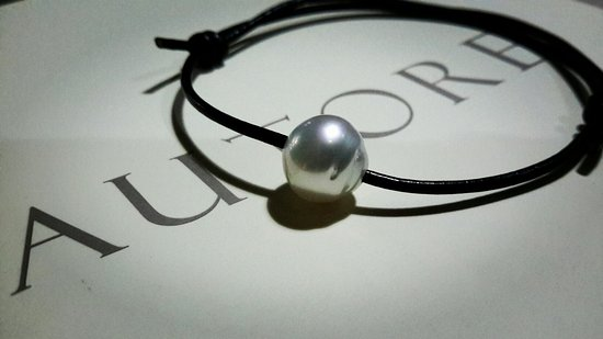 Pemenang, Indonesia: Bracelet Sea Pearl with Leather for My Daugther