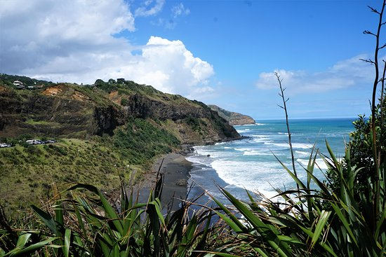 Tour Zealand Tours : Muriwai Beach with black sand