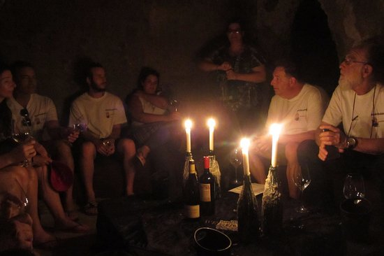 Bonnievale, Sydafrika: wine tasting by candle light