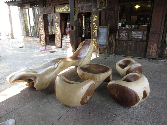 Nan Province, Thailand: Wood seating