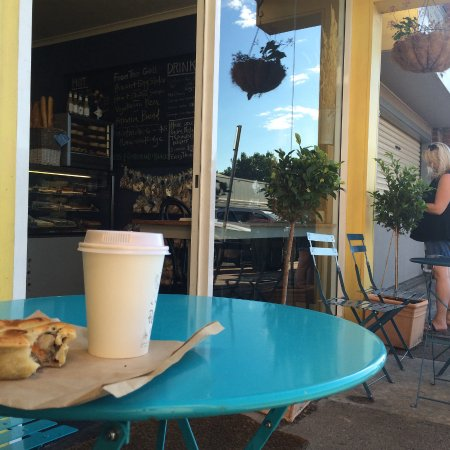 Orange, Australia: Just a wee little sausage roll this morning with a latte.... hmmm, I wonder what next time?