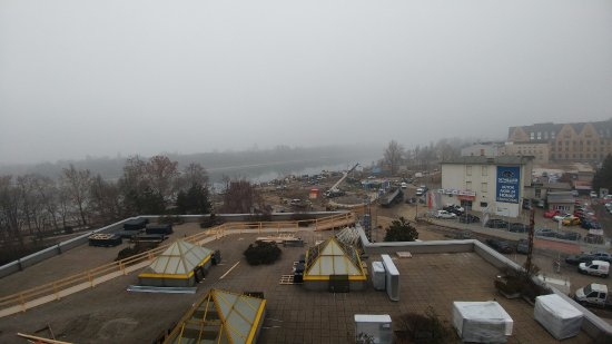 Danubius Hotel Helia : View wasn't great due to fog and all the construction!