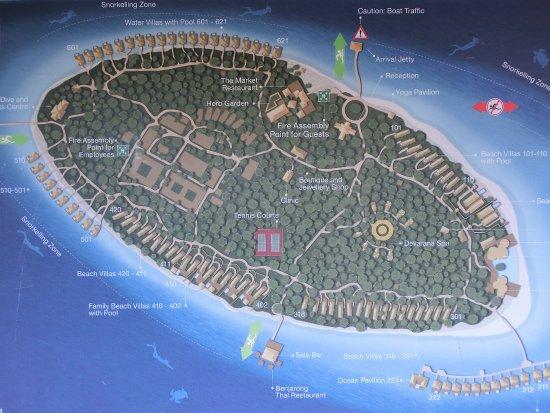 Inselkarte Picture of Dusit Thani Maldives Mudhdhoo TripAdvisor