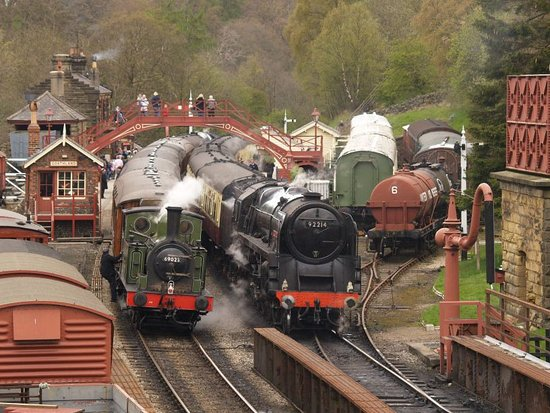 Pickering, UK: 9F and Green Tank Engine
