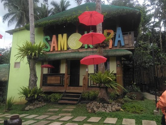 Lucban, Philippines: One of the huts
