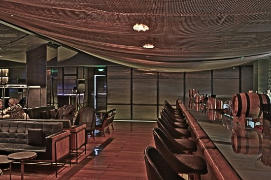 The Opposite House: Mesh Bar - bar seating area