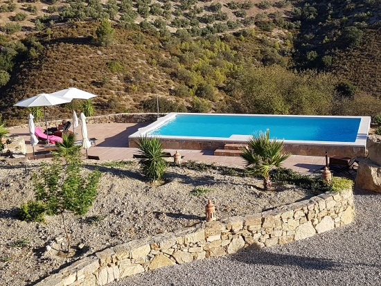 Iznajar, Spain: The pool.