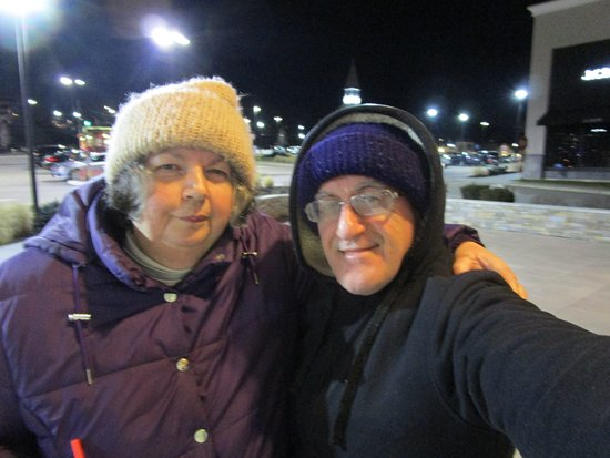 Cranston, RI: Louis and I standing outside.