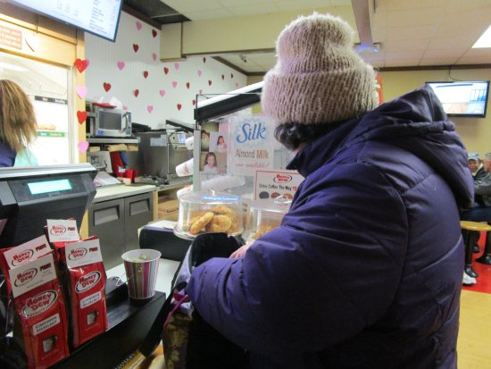 Cranston, RI: That is me at Honey Dew Donuts.