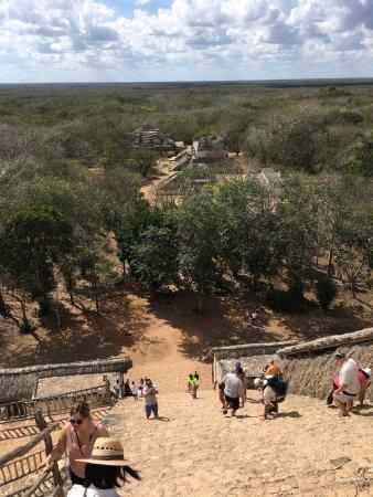 Temozon, Mexiko: Une vue du haut du temple