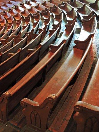 Ryman Auditorium : Original wooden pews from Ryman's days as a gospel tabernacle. (Wes Albers)