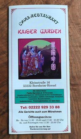 Bornheim, Γερμανία: Kaiser Garden