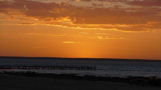 Hamelin Pool, Australia: A sunset over the Stromatolite boardwalk.
