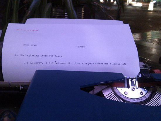 The Forest Cafe: Typewriter