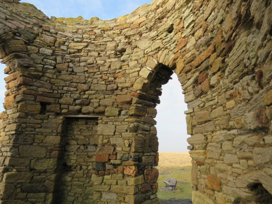 Elie, UK: inside the tower with bricked up doorway