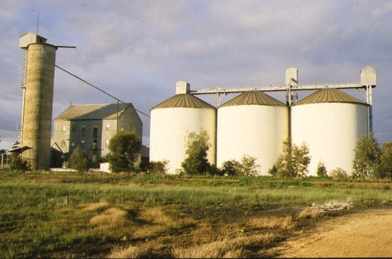 Rupanyup, Úc: Former Wimmera Flour Mill And Silo Complex