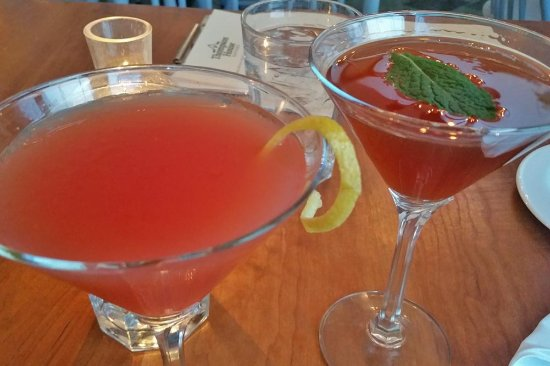 "Jackson, New Hampshire: Two Thompson House Cocktails - 1953 Orange Vesper ""James Bond Original"" Martini and Moj-Hattan"
