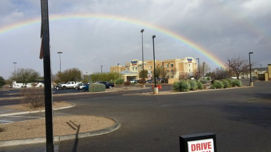 Sierra Vista, AZ: Photo of a Rainbow from the Jack In The Box lot.