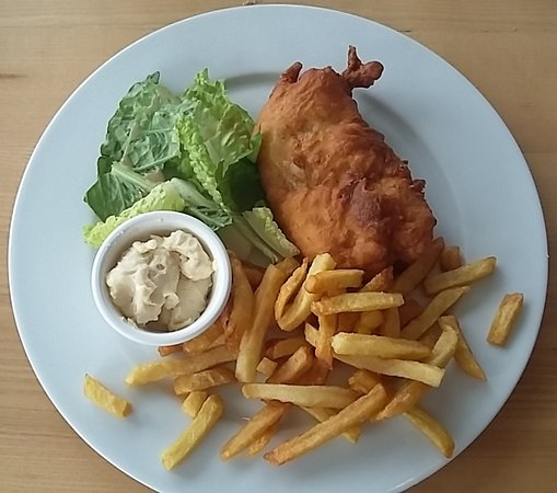 Courseulles-sur-Mer, Francia: fish and chips