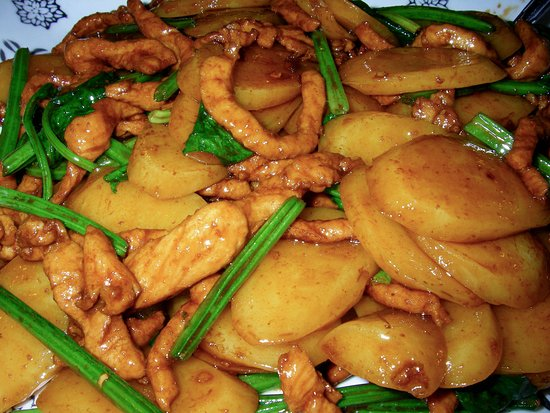 Shanghai Style Stir Fried Rice Cake With Pork Picture Of Lin Chinese Cuisine Vancouver Tripadvisor